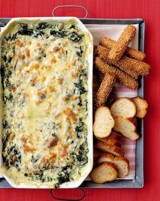 friendsgiving menu Appetizer for Friendsgiving- hot spinach dip