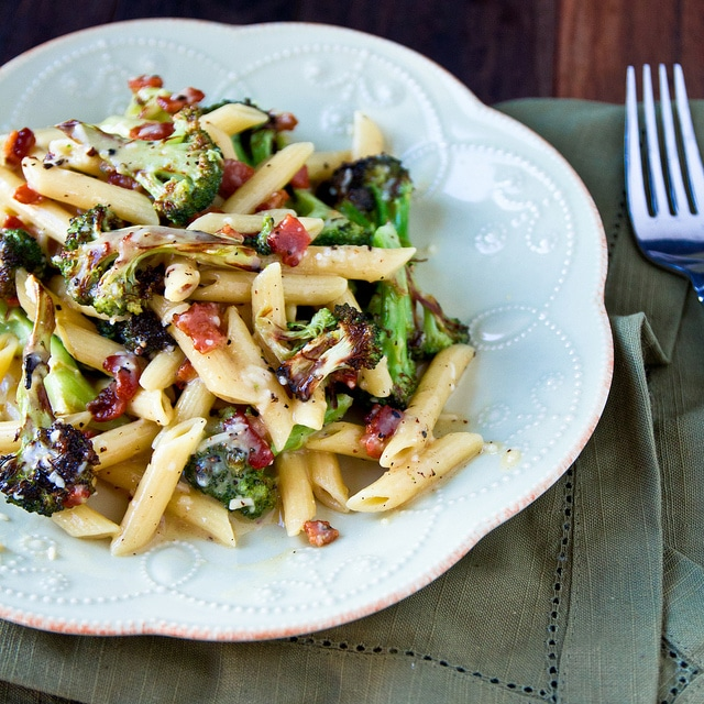Bacon and Roasted Broccoli Carbonara