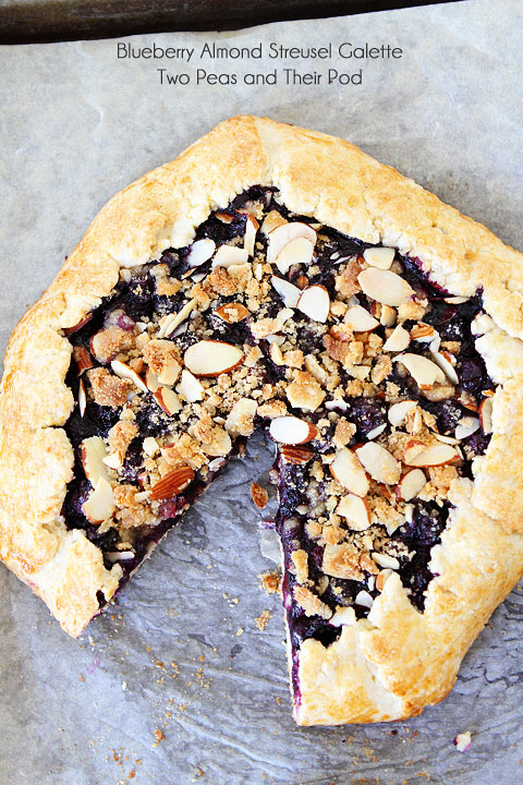 Blueberry Almond Struesel Galette