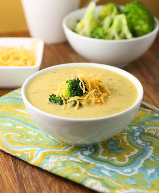 Broccoli Recipes You Need to Try : Broccoli Cheddar Soup from Citron Limette