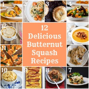 Butternut Squash Recipe Roundup from Rainbow Delicious