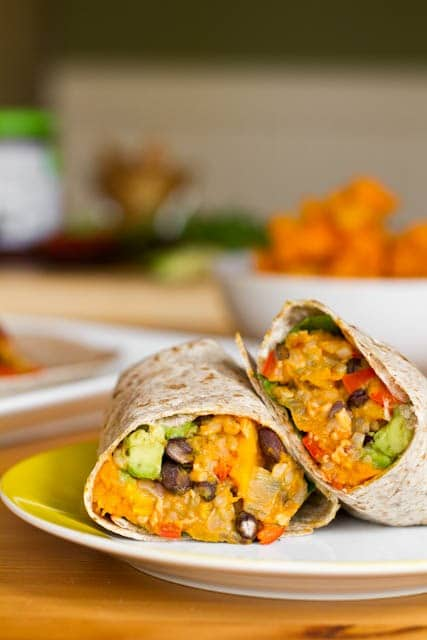 Butternut Squash Recipes Black Bean and butternut squash Burritos
