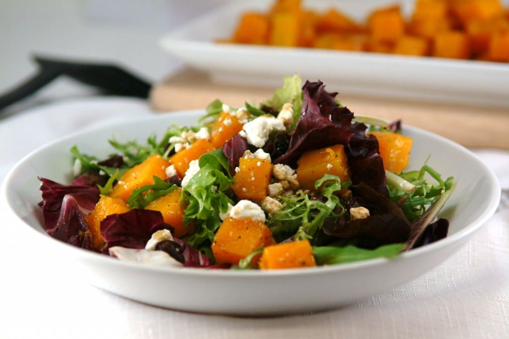 Butternut Squash Recipes Roasted Butternut Squash Salad with Maple Balsamic Vinaigrette