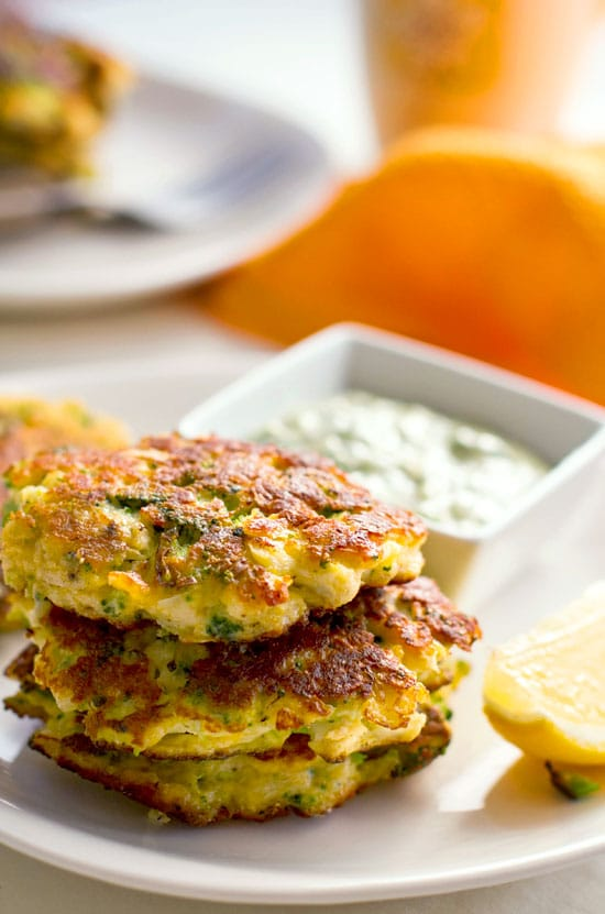 Cauliflower Broccoli Halloumi Fritters
