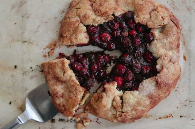 Triple Berry Lemon Galette With Almond Crust Recipe — Dishmaps