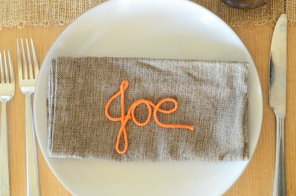 DIY monogrammed place cards