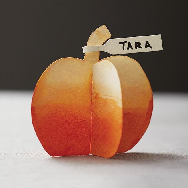 DIY pumpkin place card