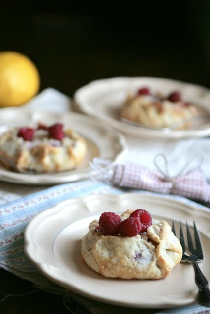 Mini Raspberry Lemon Galettes