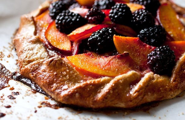 Nectarine and Basil Galette
