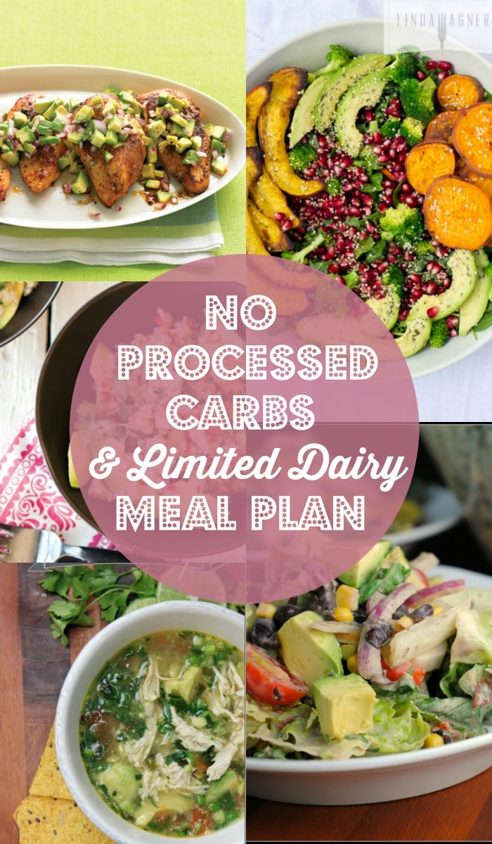 No Processed Carbs and Limited Dairy Meal Plan