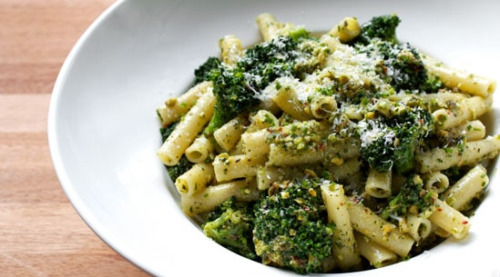 Pistachio Lemon Pesto Broccoli Pasta
