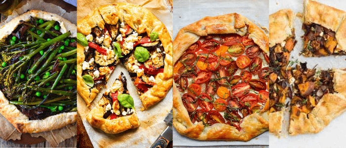 four savory galettes