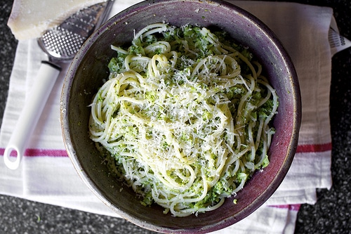 Spaghetti with Broccoli Cream Pesto from Smitten