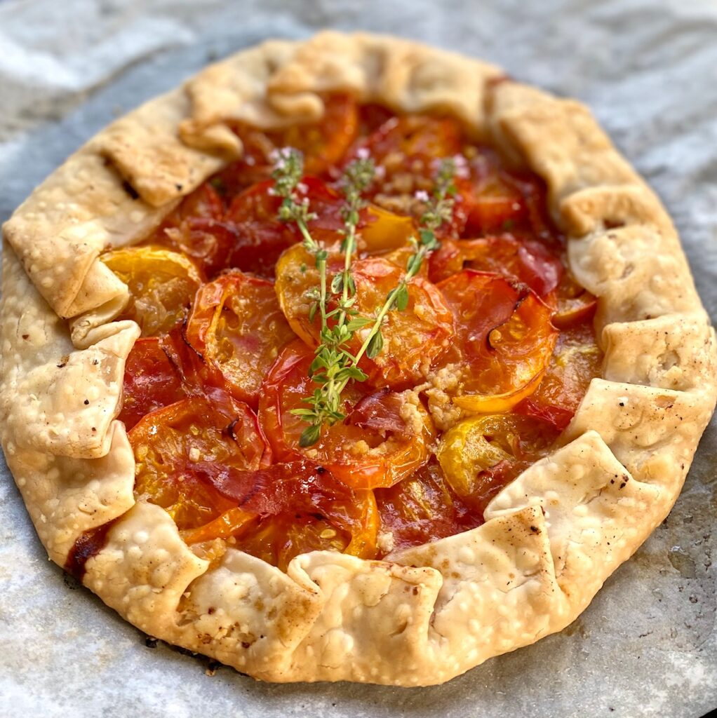 Tomato galette from the Art of Food Wine Savory Galette Recipes
