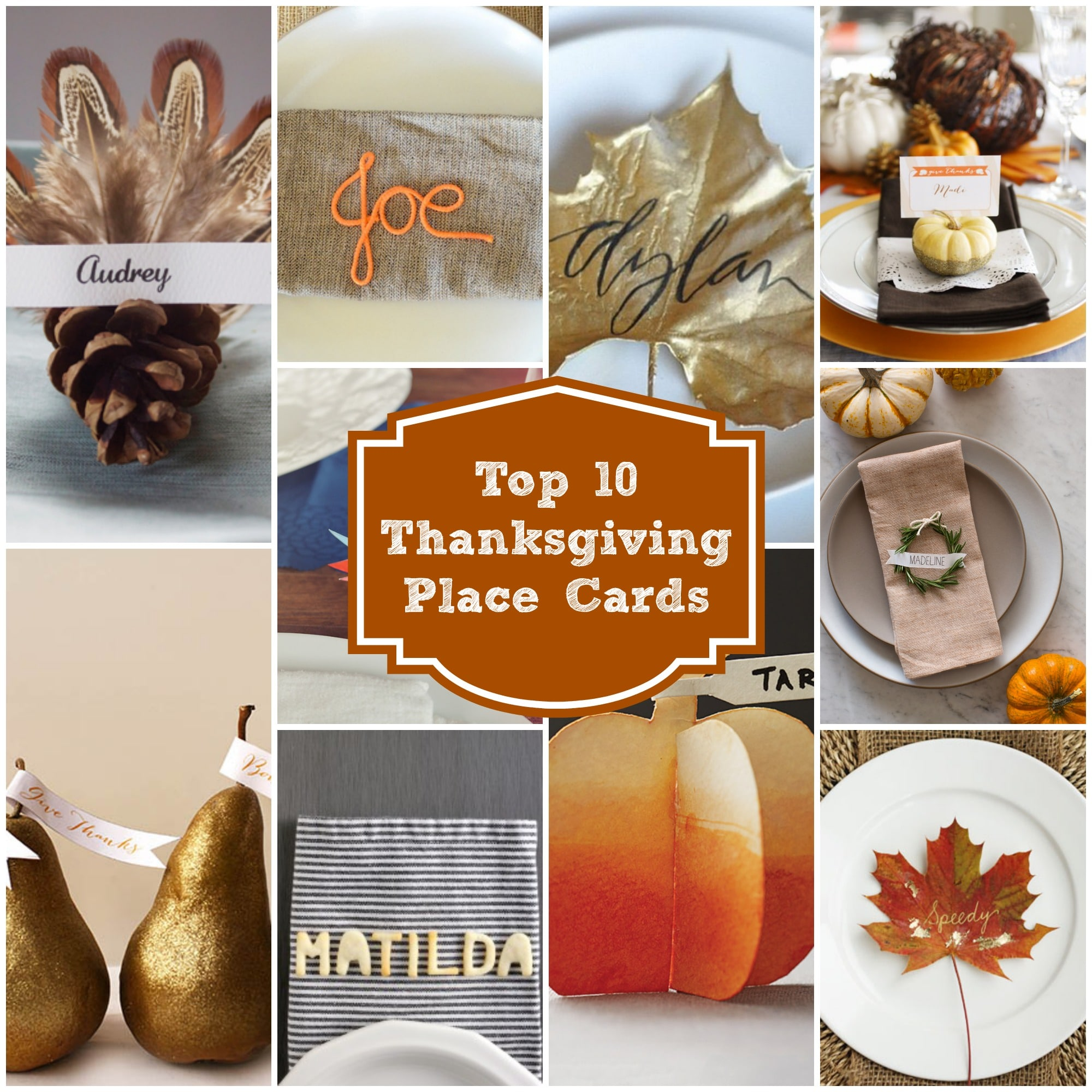 Top 10 last minute thanksgiving place cards rainbow for Diy thanksgiving table place cards