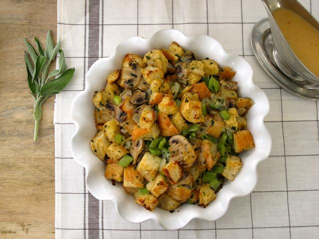 friendsgiving menu Traditional Herb Stuffing for Friendsgiving