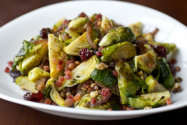 brussels sprouts with pancetta for friendsgiving