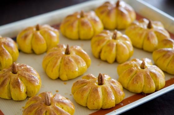 pumpkin dinner rolls for friendsgiving
