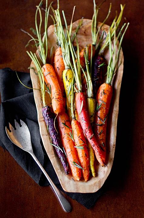 friendsgiving menu rosemary carrots for friendsgiving