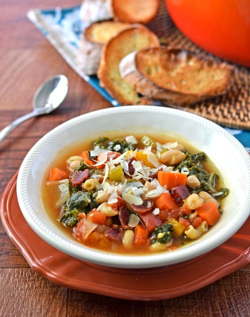 Butternut Squash White bean and Kale Minestrone