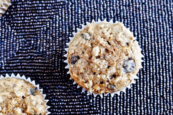 oatmeal chocolate chip muffins from how sweet eats