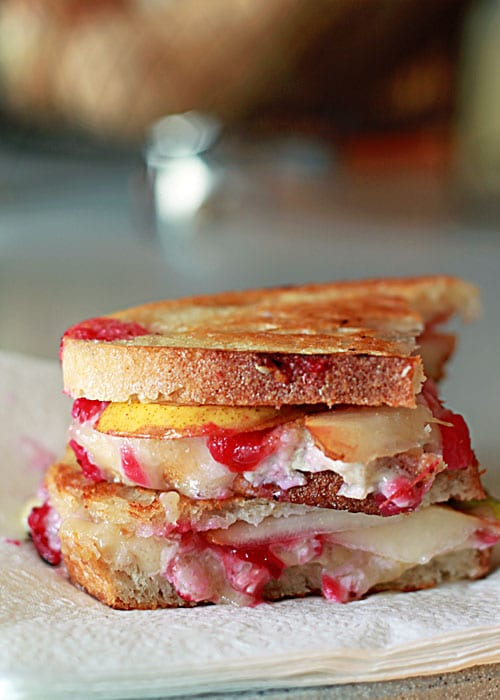 Cranberry Pear Brie Grilled Cheese