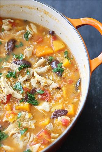 Hearty Chicken Stew with Butternut Squash Quinoa