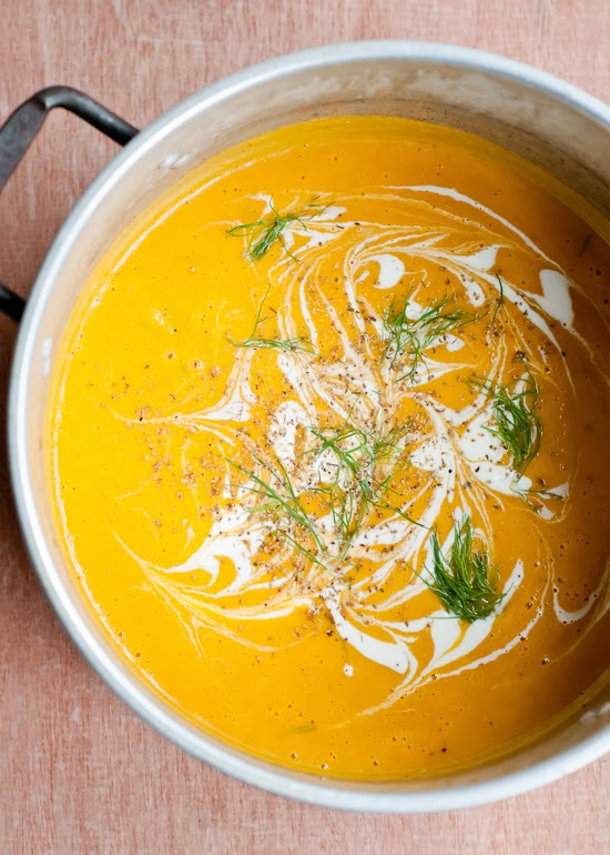 Roated Butternut Squash and Fennel Soup