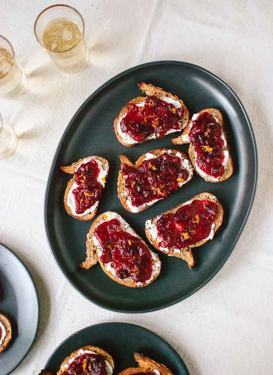 cranberry crostinis