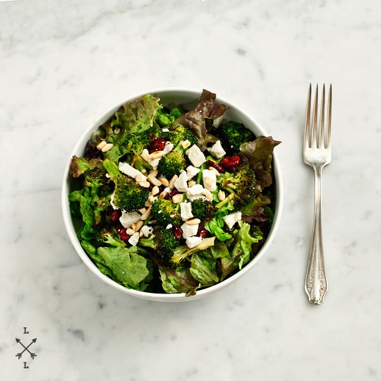 roasted broccoli and cranberry salad