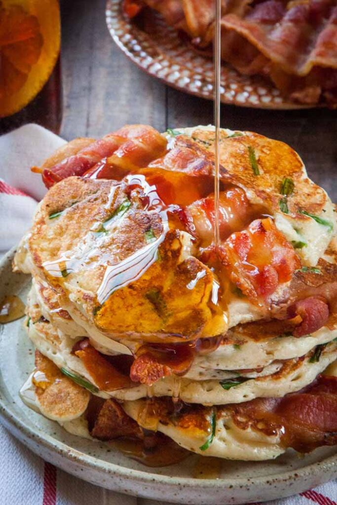 bacon and chive unique pancake recipe