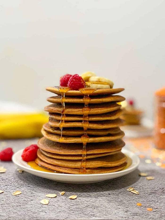 banana lentil pancakes