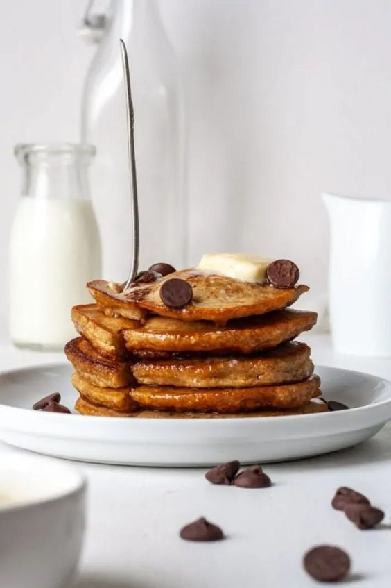 unique pancake recipes - cassava flour pancake stack