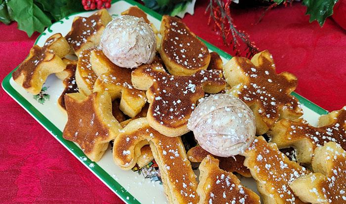 Eggnog festive pancakes