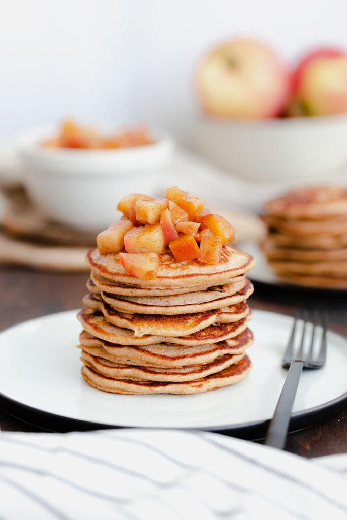 gluten free apple cider pancake stack - creative pancake ideas