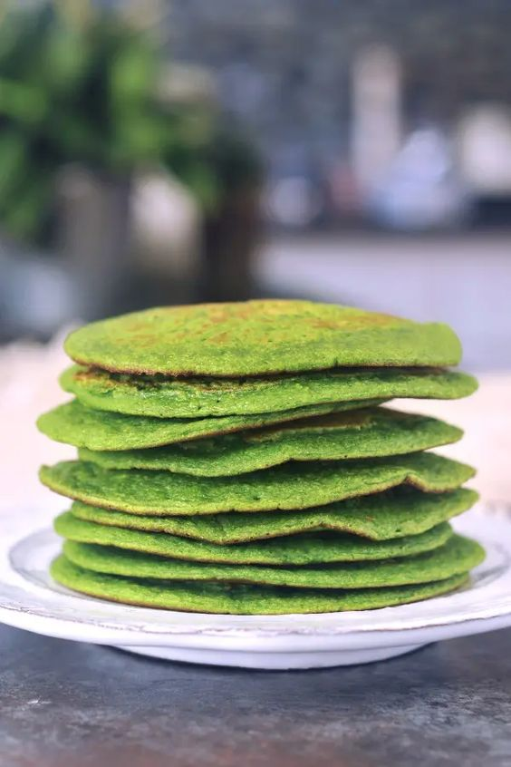 Green Spinach Pancakes Unique Pancake Recipes
