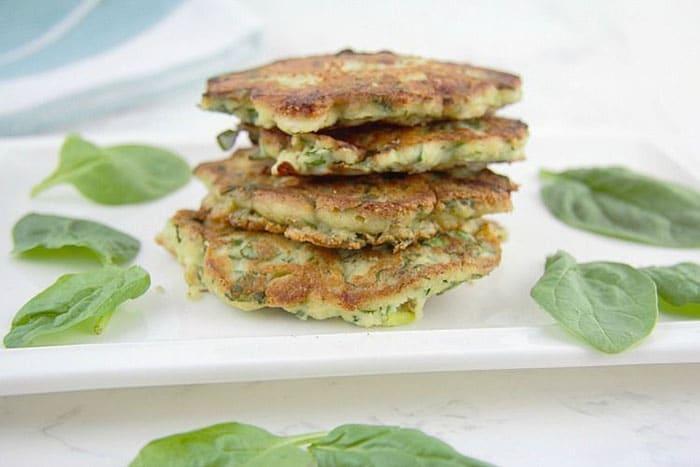 savory spinach feta pancakes - creative pancake ideas