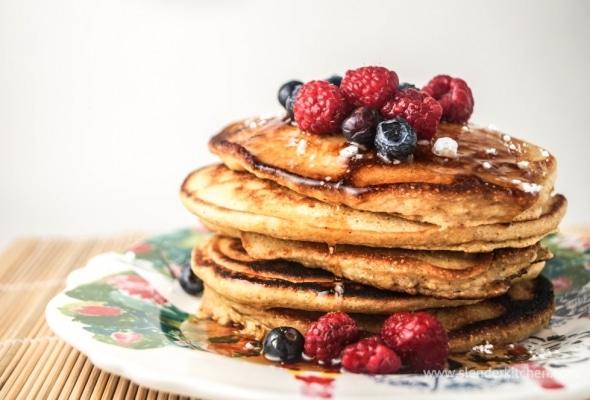 Polenta Berry Pancakes