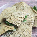 Turkey, Spinach and Cranberry Cream Cheese Pitas