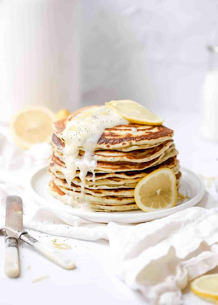 lemon poppyseed sourdough pancakes - creative pancake recipes