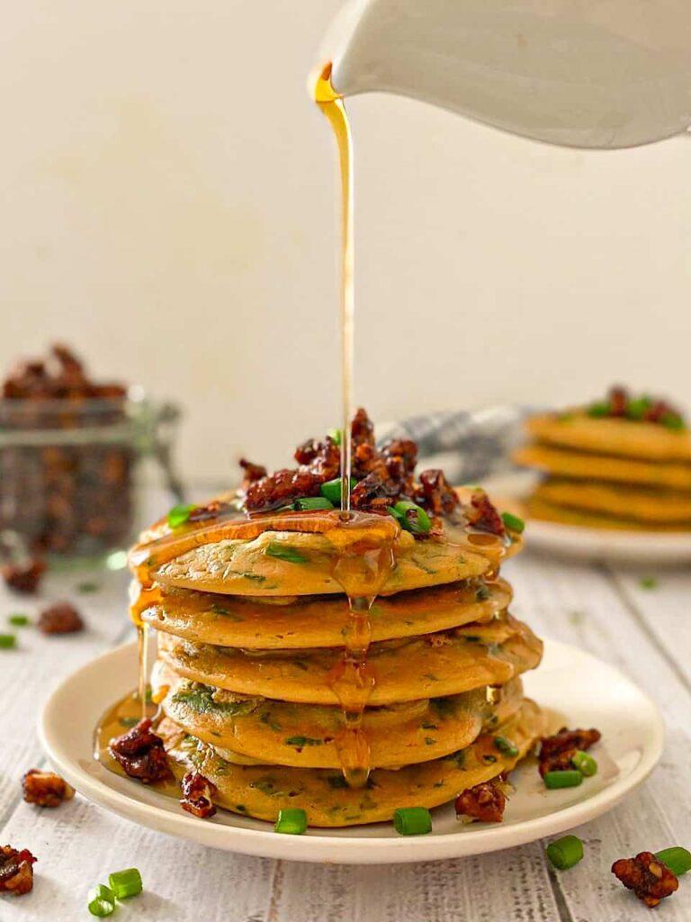 vegan lentil spinach savory pancake recipes