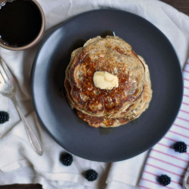 Whole Wheat Almond Poppy Seed Pancakes