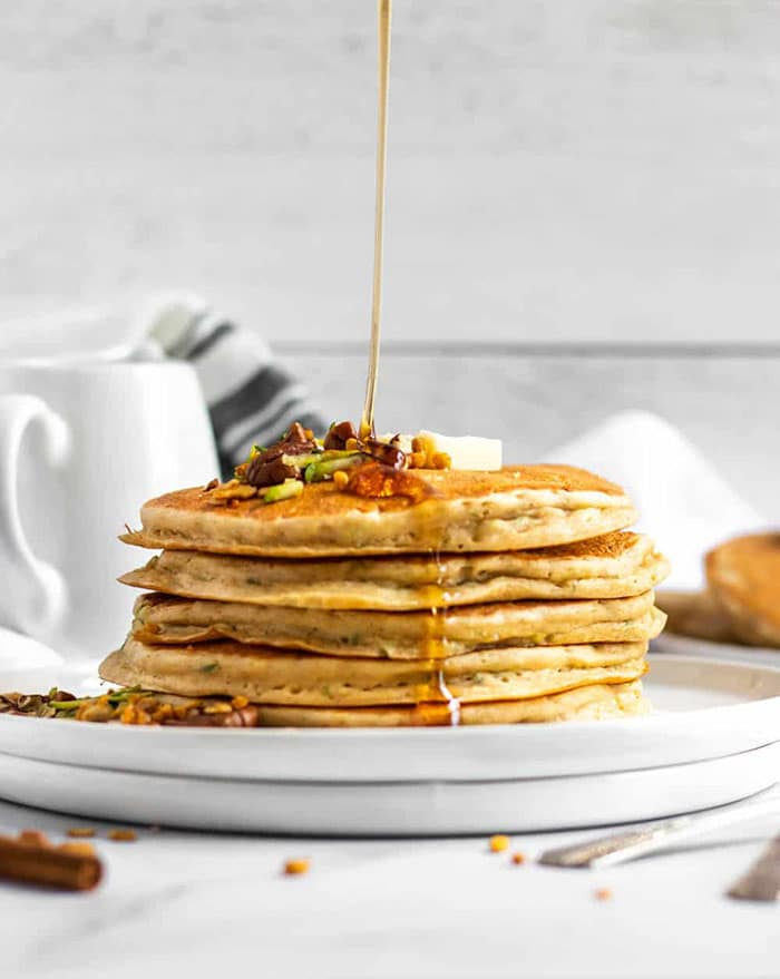 zucchini bread oatmeal pancake - creative pancake ideas