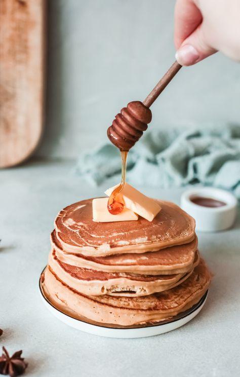 Fall apple pancake stack