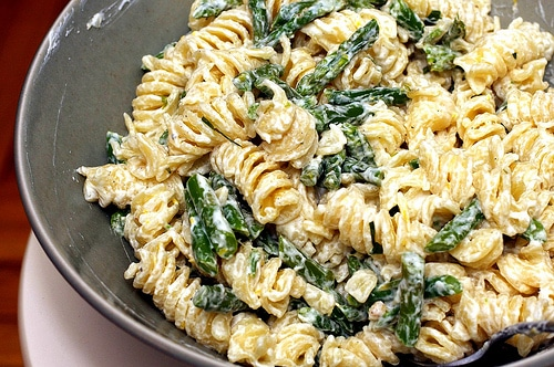 asparagus lemon and goat cheese pasta
