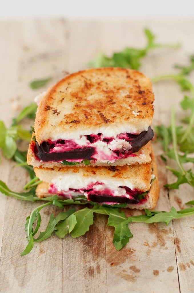 beet arugula goat cheese grilled cheese