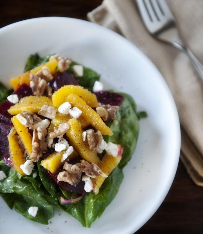 beet orange feta salad