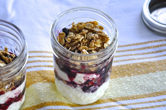 cherry yogurt breakfast parfaits & healthy breakfast ideas