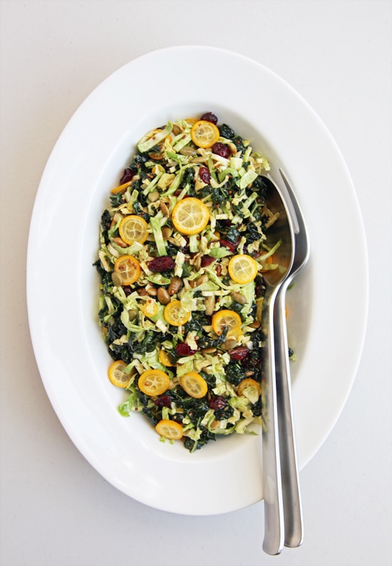 shredded brussels sprouts and citrus salad