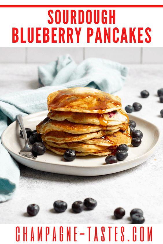 sourdough blueberry pancakes
